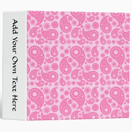 Pink Paisley. 3 Ring Binder