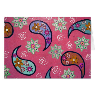Pink Paisley Any Occasion Card
