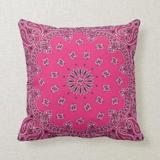pink paisley bandana pillow