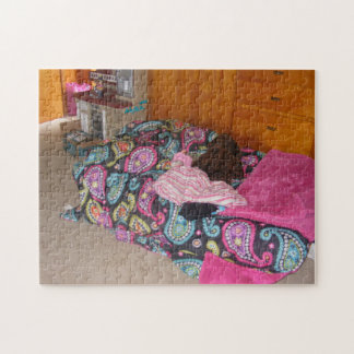 Pink Paisley Bed Puzzle