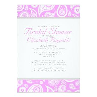 Pink Paisley Bridal Shower Invitations