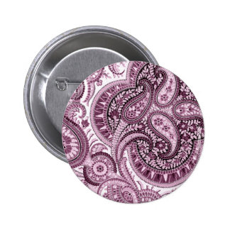 Pink Paisley 2 Inch Round Button