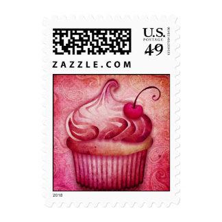 pink paisley cupcake stamps