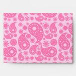 Pink Paisley. Envelope