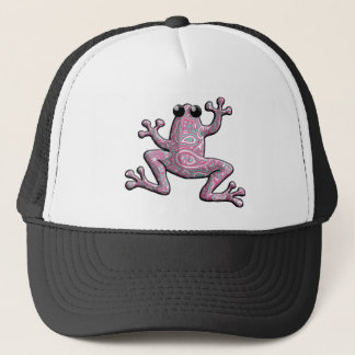 Pink Paisley Frog Trucker Hat