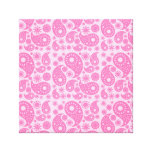 Pink Paisley. Gallery Wrapped Canvas