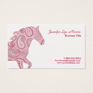 Pink Paisley Horse Business Card