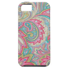 Pink Paisley Iphone Se/5/5s Case at Zazzle