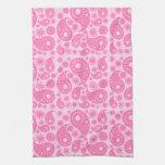 Pink Paisley. Kitchen Towel