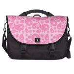 Pink Paisley. Laptop Messenger Bag
