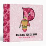 "Pink Paisley Monogram ""P"" Baby Scrapbook Binders"