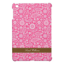 Pink Paisley Pattern iPad Mini Cover