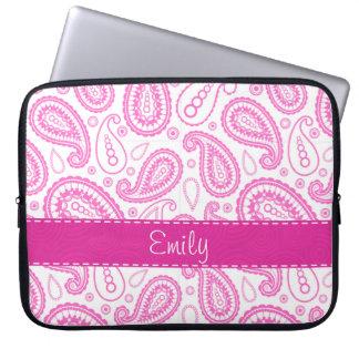 Pink Paisley Pattern Computer Sleeves