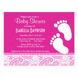 Pink Paisley Pattern Post Card