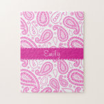 Pink Paisley Pattern Puzzles