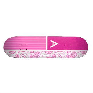 Pink Paisley Pattern Skate Board Decks