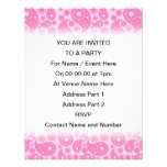 Pink Paisley. Personalized Announcement