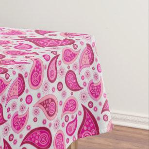 Pink Paisley Table Cloth