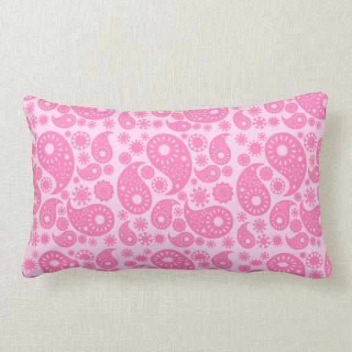 Pink Paisley. Throw Pillow