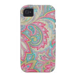 Pink Paisley Vibe iPhone 4 Cover