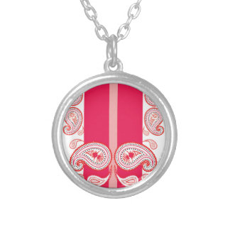 Pink paisleys necklaces