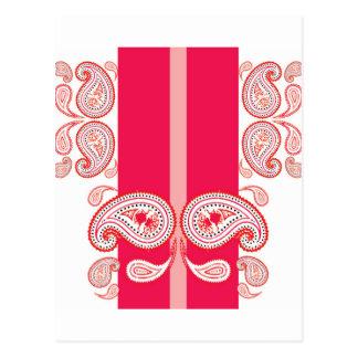 Pink paisleys postcards