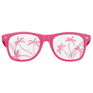 Pink Palm Trees Party Sunglasses