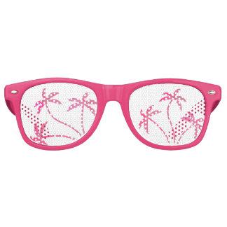 Pink Palm Trees Retro Sunglasses