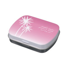 Pink Palm Trees Wedding Jelly Belly™ Tin Jelly Belly Candy Tins at Zazzle