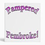 Pink Pampered Pembroke Template Binder