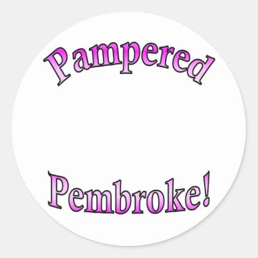 Pink Pampered Pembroke Template Sticker