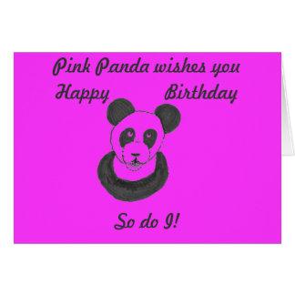 Pink Panda Birthday Card