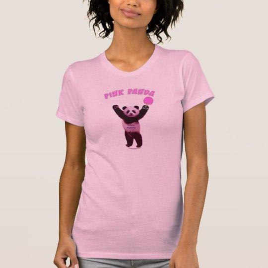 Pink Panda Ping Pong T-Shirt
