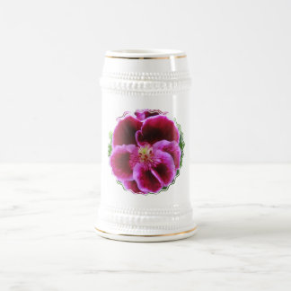 Pink Pansy Beer Stein