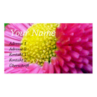 Pink Pansy Business Card