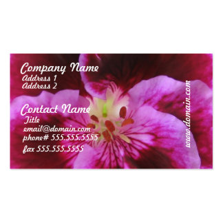 Pink Pansy Business Cards