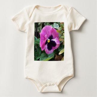 Pink Pansy Infant Organic Creeper