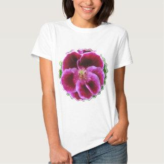 Pink Pansy Ladies T-Shirt