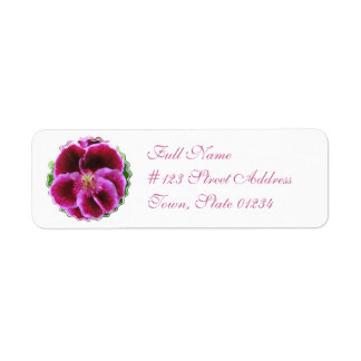 Pink Pansy Mailing Label Return Address Label