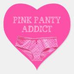 PINK PANTY ADDICT (Heart Sticker)