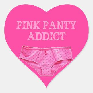 PINK PANTY ADDICT (Heart Sticker) Heart Sticker