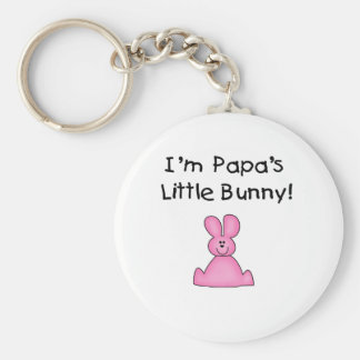 Pink Papa's Little Bunny T-shirts and Gifts Key Chains