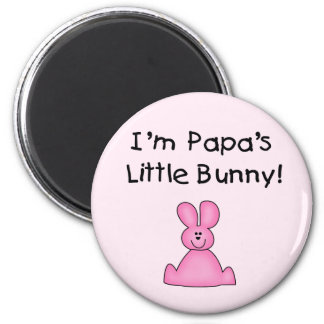 Pink Papa's Little Bunny T-shirts and Gifts Refrigerator Magnets