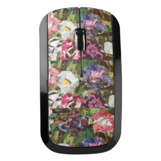 Pink Paper Flower Design Wireless Mouse