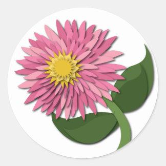 Pink Paper Flower Sticker