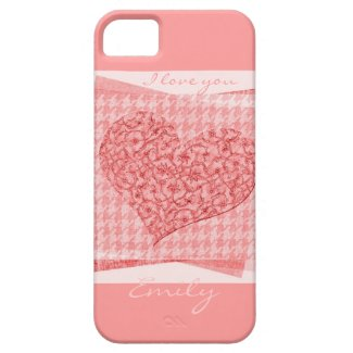 Pink paper heart - Ilove you iPhone 5 Cover