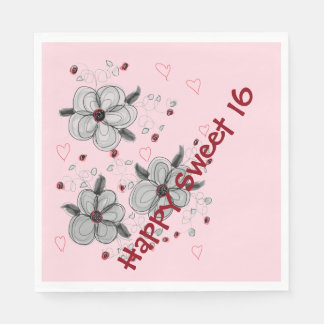 Pink Paper Party Napkins