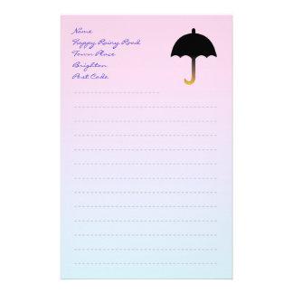 Pink Paper with Umbrella