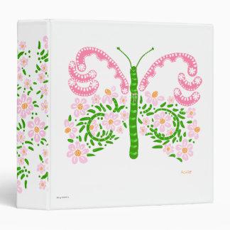 pink papillon binder