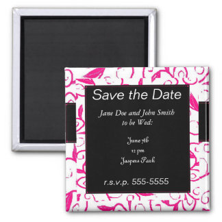 Pink Paradise 2 Inch Square Magnet